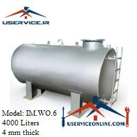 منبع ذخیره فلزی ضخامت 4 میلی 4000 لیتری شرکت ایران منبع مدل IM.WO.6