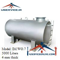 منبع ذخیره فلزی ضخامت 4 میلی 5000 لیتری شرکت ایران منبع مدل IM.WO.7