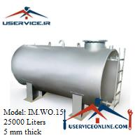 منبع ذخیره فلزی ضخامت 5 میلی 25000 لیتری شرکت ایران منبع مدل IM.WO.15