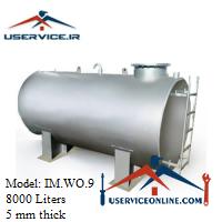 منبع ذخیره فلزی ضخامت 5 میلی 8000 لیتری شرکت ایران منبع مدل IM.WO.9