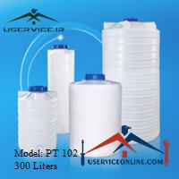منبع ذخیره عمودی 300 لیتری شرکت آذرپالت مدل PT 102