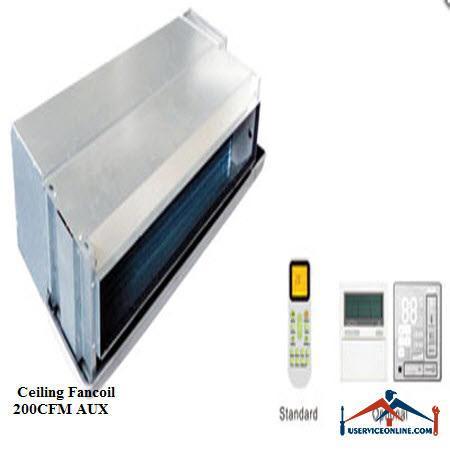 فن کویل AUX سقفی توکار CFM 200