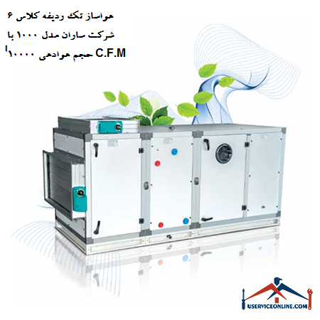 هواساز تک ردیفه کلاس 6 شرکت ساران مدل 1000 با حجم هوادهی 10000 C.F.M