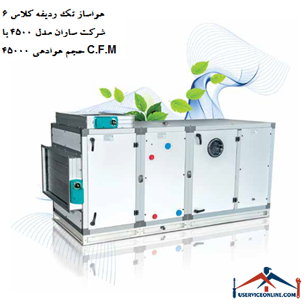 هواساز کلاس 6 شرکت ساران مدل 4500 با حجم هوادهی 45000 C.F.M
