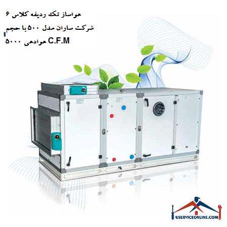 هواساز تک ردیفه کلاس 6 شرکت ساران مدل 500 با حجم هوادهی 5000 C.F.M