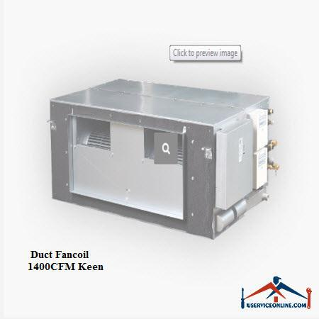 فن کویل کانالی کین Keen CFM 1400