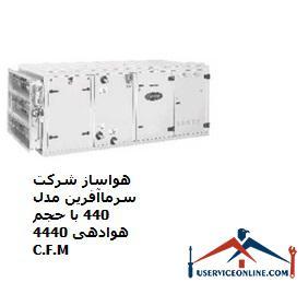 هواساز شرکت سرماآفرین مدل 440 با حجم هوادهی 4440 C.F.M